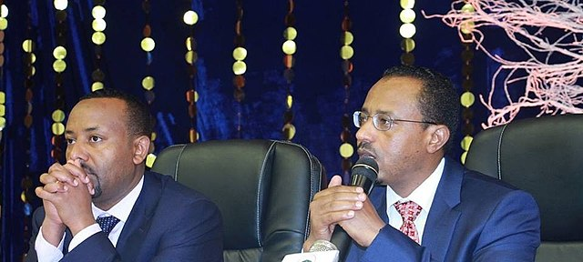 Abiy Ahmed and Lemma Megersa of Ethiopia